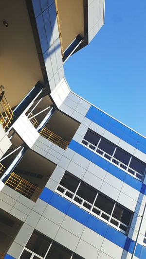 Clear Sky Blue Business Finance And Industry Low Angle View Architecture Day Sky No People Outdoors City Space Close-up