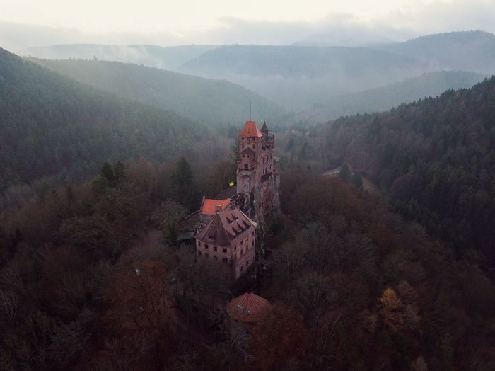Berwartstein, Palatinate Forest. The Week on EyeEm Pfalz Mountain High Angle View Fog Nature Tree Scenics Beauty In Nature Mountain Range No People Landscape History Outdoors Building Exterior Sky Built Structure Tranquility