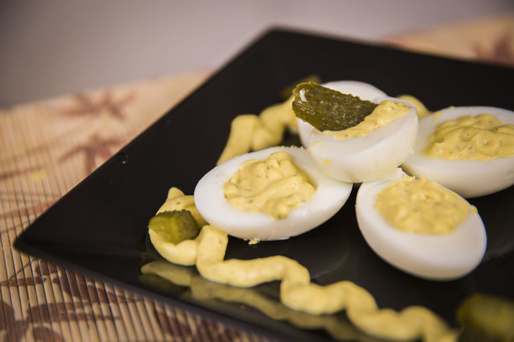 Close-up Day Deviled Eggs Food Food And Drink Freshness Healthy Eating Indoors  No People Plate Ready-to-eat Table