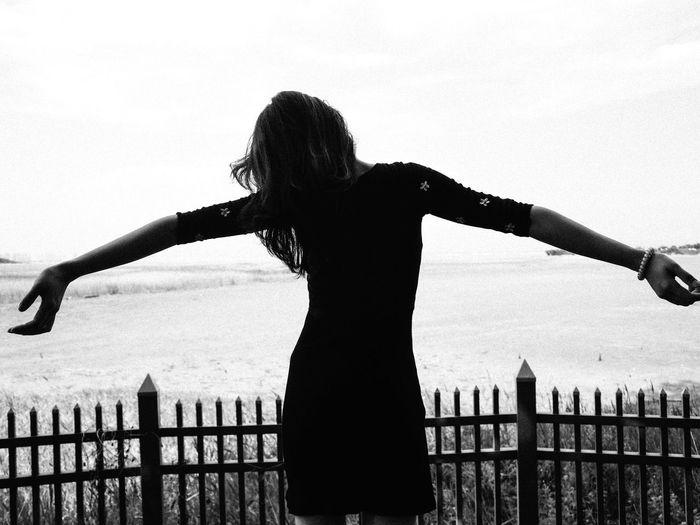 Summer Blackandwhite Silhouette Sky Leisure Activity Lifestyles