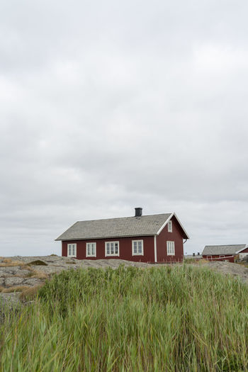 Gothenburg archipelago on the west coast of Sweden. Archipelago Goteborg Göteborg, Sweden Sweden Swedish Nature Architecture Building Building Exterior Built Structure Cloud - Sky Day Field Gothenburg Grass Growth House Land Landscape Nature No People Outdoors Red House Rural Scene Sky Water