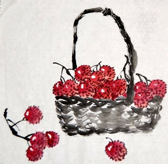 Chinese Painting Waxberry