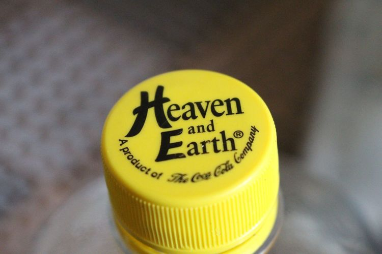 Heaven and Earth Yellow Text Close-up No People