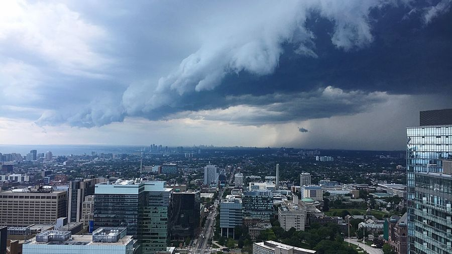 Storm Watch View Views Storm Clouds EyeEmNewHere Downtown Toronto Downtowntoronto Downtown Lake Ontario Lakeshore Toronto Canada Building Exterior City Architecture Built Structure Cityscape Cloud - Sky Sky Storm Building Office Building Exterior High Angle View Storm Cloud Travel Destinations Skyscraper City Life Outdoors