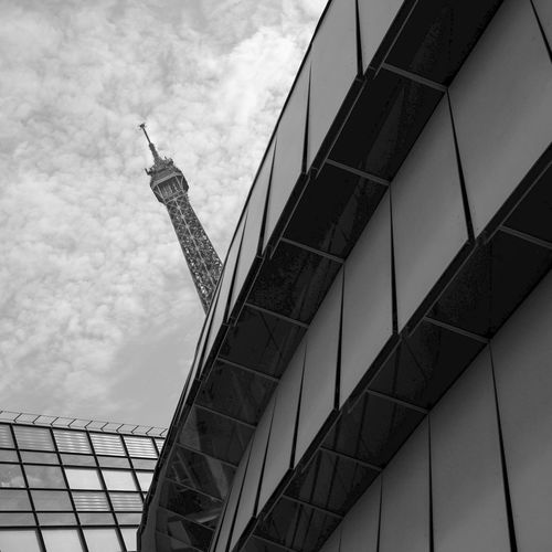 Architecture Blackandwhite Built Structure Clouds And Sky Eiffel Tower Musée Quai Branly Square Tower