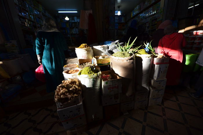 Dark Indoors  Day Market Medina Errachidia Morocco Shop People Spices Light Light And Shadow Streetphotography