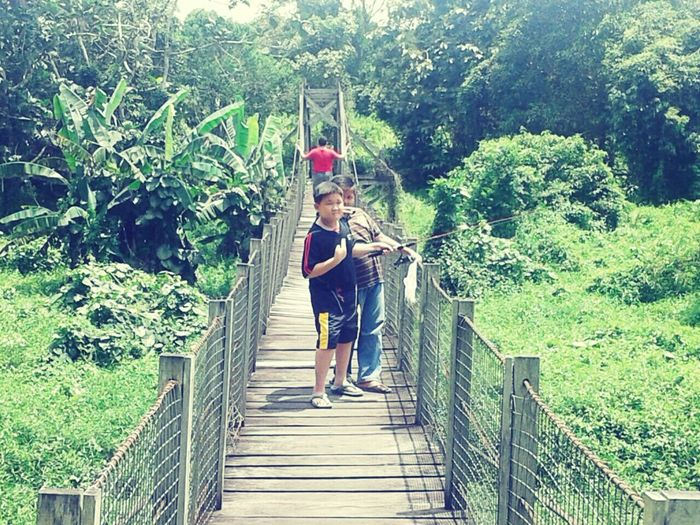 Isaac and Glen ~ Fishing together Fun Moments! Nature Outdoors Tree Taking Photos Childhood Fun Canopy Walk