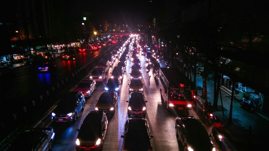 Traffic jam at