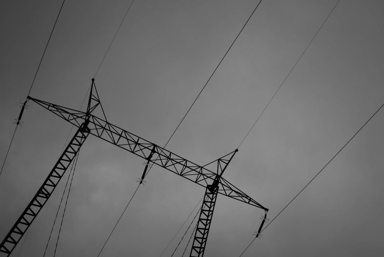 Cable Connection Electricity  Electricity Pylon No People Power Line  Power Supply Sky