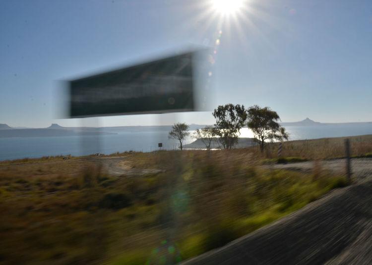Road On The Move No People Motion Sea Nature Sun Landscape Landschaft