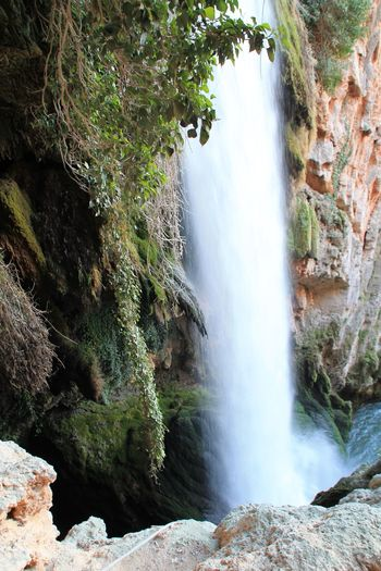 Monasterio De Piedra Behind The Waterfall Waterfall Water Nature Motion Beauty In Nature Rock - Object Long Exposure Scenics Flowing Water Outdoors Flowing Blurred Motion Cliff Environment No People Freshness Running Water Day Tree Enjoying Life Check This Out Hanging Out Taking Photos