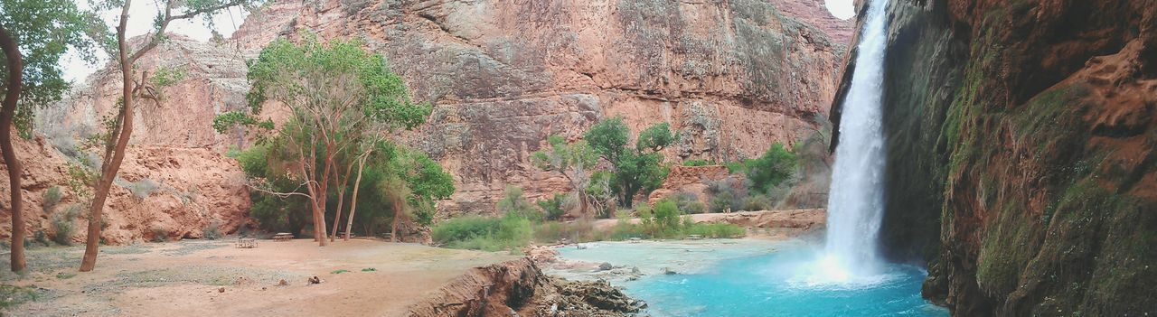 Havasu Falls. Havasu Falls Havasupai Nature_collection Naturelovers Waterfalls Waterfall Blue Green Water Arizona Grand Canyon Backpacking Hikingadventures Hiking Hikers