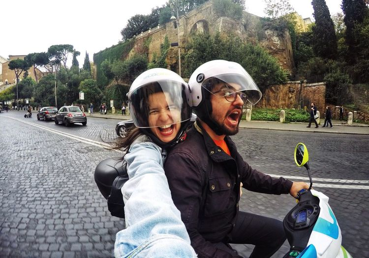Second Acts Happiness Smiling Two People Lifestyles Live For The Story Vacations Vespatrip Scooterlife Scooter Rome Italy Rome, Italy Electricscooter Second Acts