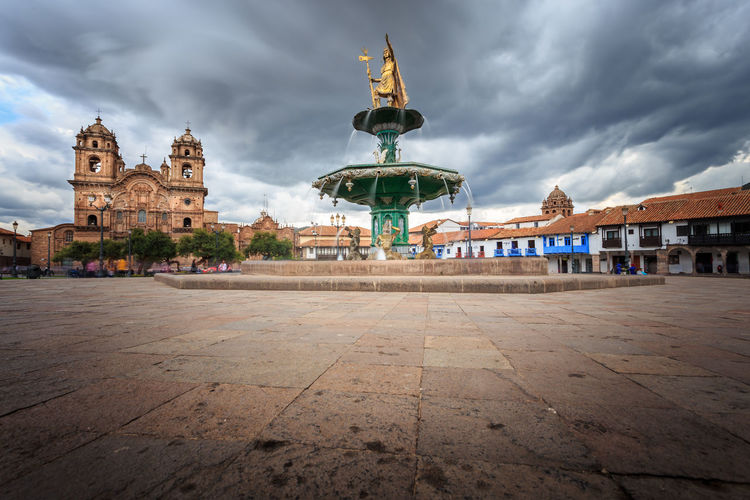 Catedral Cusco Huacaypata Inca Pachacutec Peru Stormy Weather Architecture Building Exterior City Cloud - Sky Person Plaza De Armas Southamerica Statue This Is Latin America