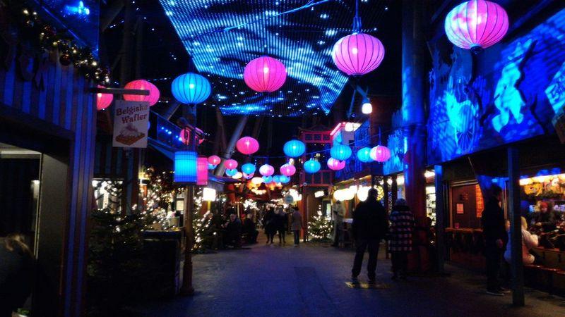 Atmosphere Chinese Christmastime Colorful Copenhagen Denmark Illuminated Light Multi Colored Night Tivoli