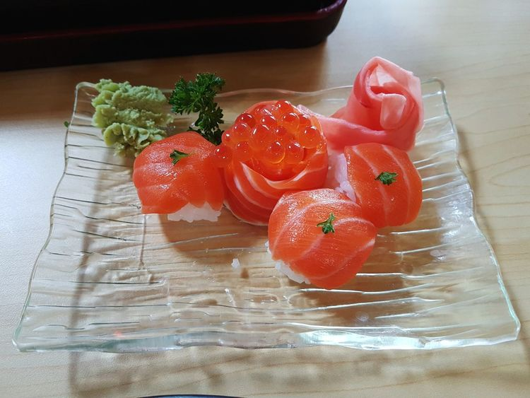 Healthy Eating Indoors  Freshness Food And Drink Table Food No People Water Close-up Day Bowl Ready-to-eat Japanese Food Food Design High Angle View Caviar Ikura Caviar Salmon - Seafood