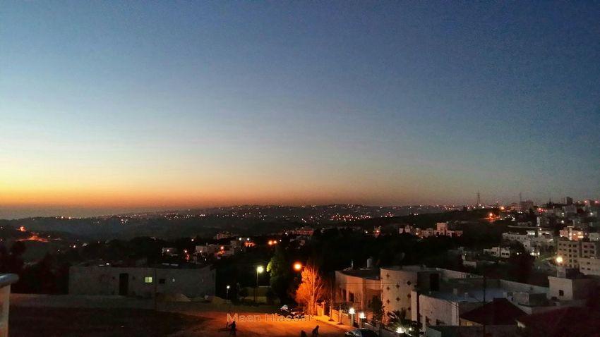 الاردن عمان Sunset Amman Jordan