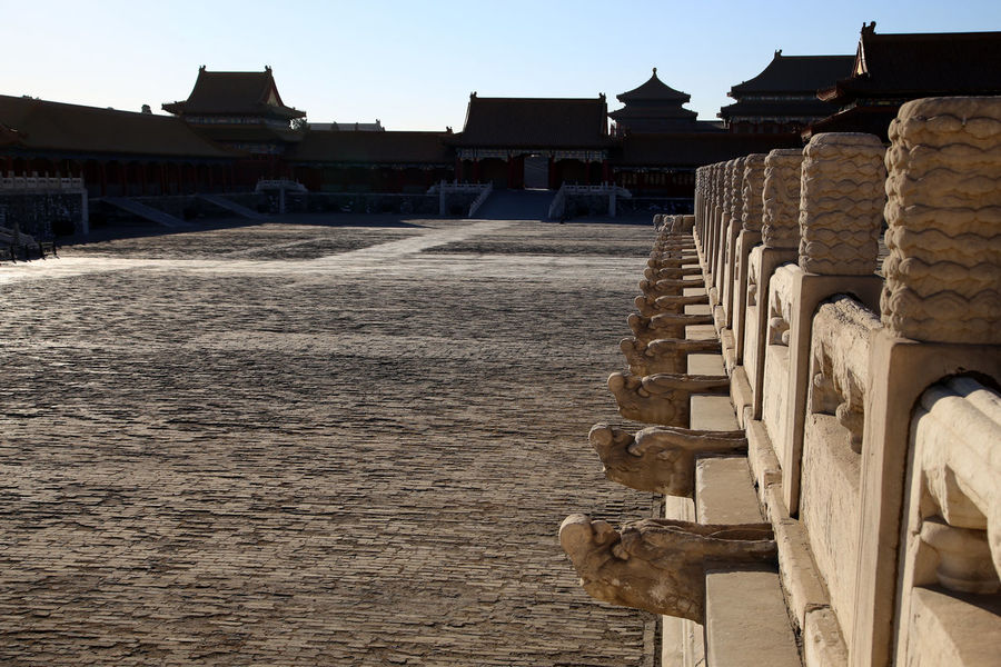 Tian'anmen Square Pagoda Royalty Tourist Forbidden City, Beijing, China Place Of Worship Mao Travel People Gate Of Heavenly Peace Architecture Sunbeam Forbidden City Beijing, China Clear Sky Pagodas Temple Architecture Ming Dynasty Chinese Chinese Art Chinese Temple Emperor
