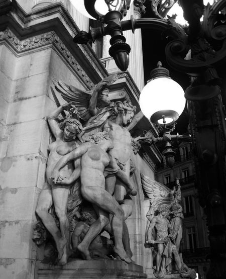 Carpeaux Opera Garnier Paris By Night Architecture Art And Craft Belle Epoque Building Exterior Built Structure History Human Representation Low Angle View No People Outdoors Sculpture Statue Travel Destinations