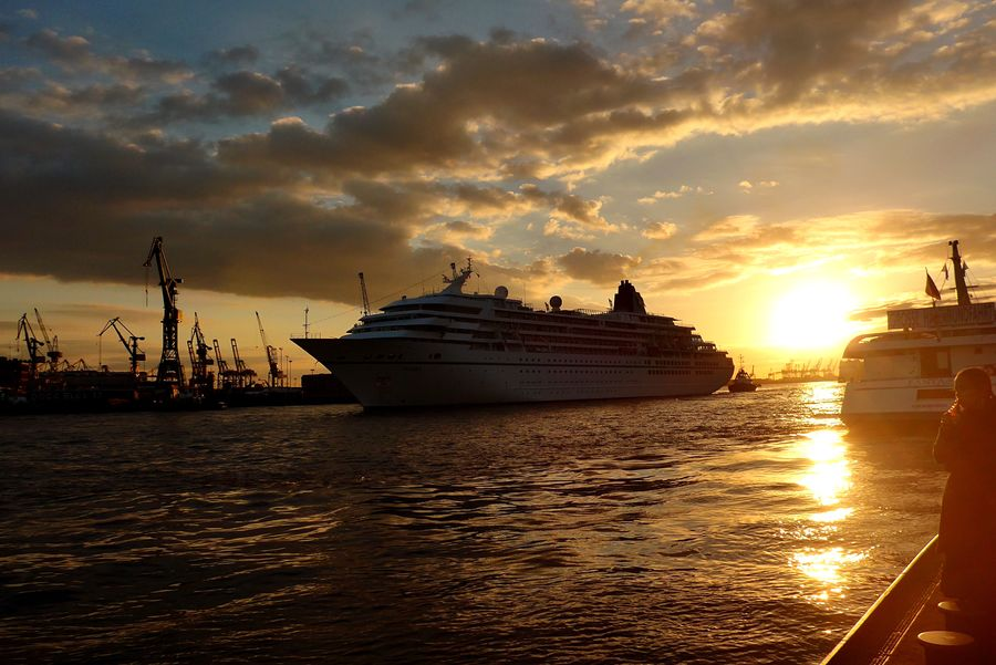 Harbor Sunset Water Nautical Vessel Sky Mode Of Transportation Transportation Sunset My Best Travel Photo Ship Sea Cloud - Sky Nature Scenics - Nature Sailing Travel
