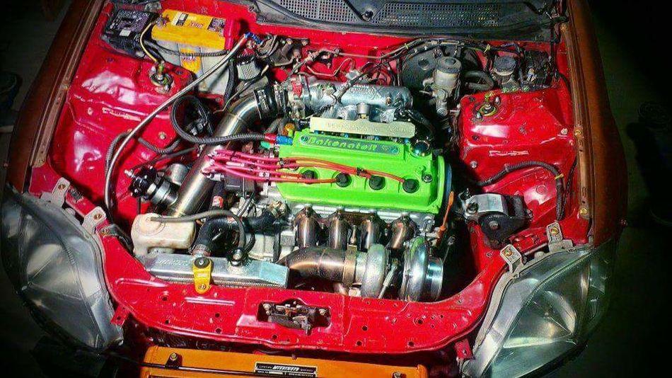 Honda Honda Civic Vtec Ek9 Turbo Dseries D16 D2B Single Cam Red