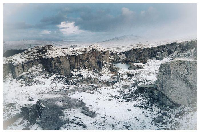 Winter Snow Stone Rock Hills Dartmoor Dartmoor National Park Foggintor Camshy Sony Landscape_photography