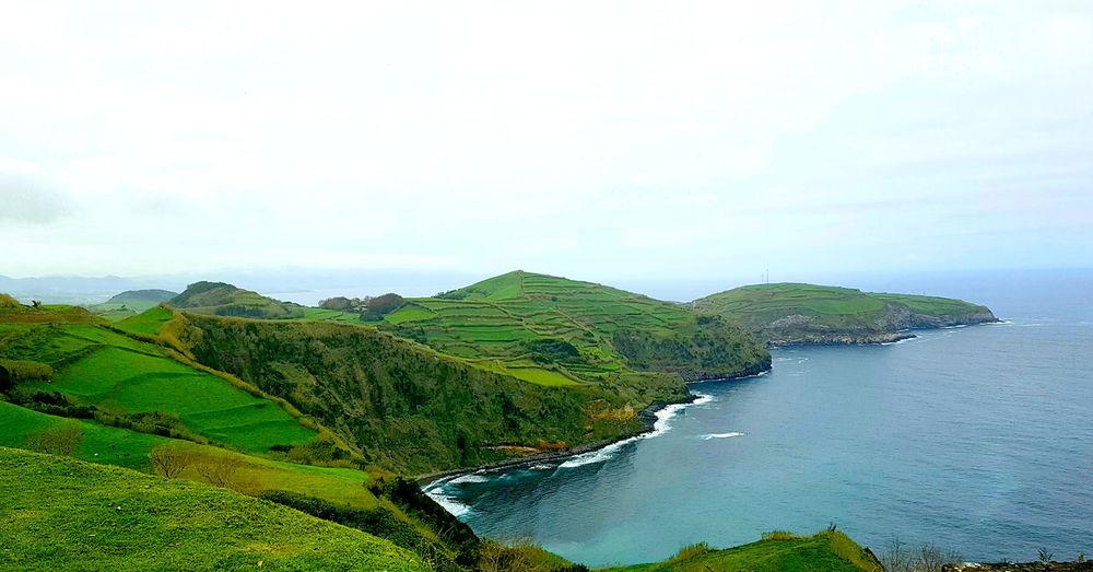 Atlantic Ocean Azores Azores Islands Açores Açores - Portugal Cloudy Green São Miguel - Açores Winter Green Landscape Greenery Landscape Moody No People Ocean Scenics Travel Destinations Water