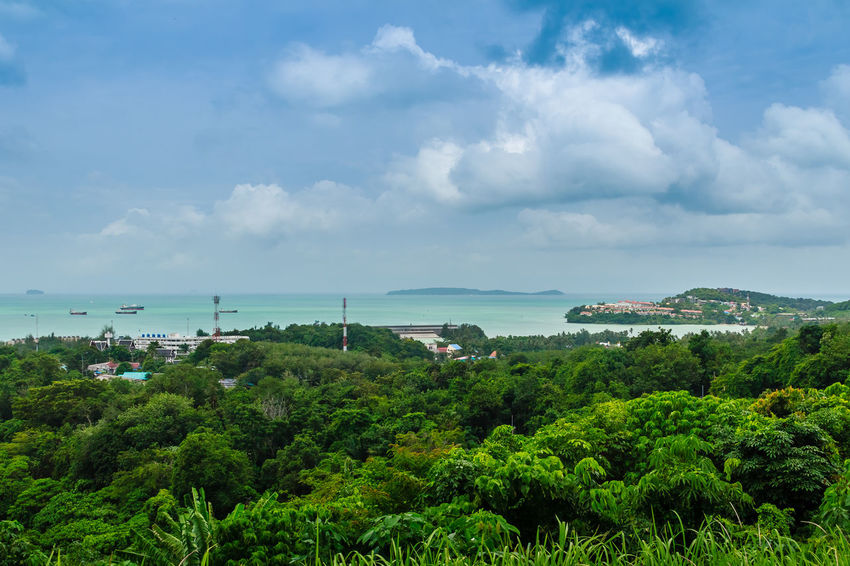 Beautiful view of Ao Makham (Makham bay) and Panwa cape, view from Kao Khad- Ao Yon Rural Road, Tambol Wichit, Amphur Mueang Phuket, Phuket Province, Thailand. Ao Makham Ao Yon , Thailand Kao Khad Makham Bay Panwa Cape Phuket Phuket Island Phuket Landscape Phuket Thailand Phuket, Thailand Phuket,Thailand Architecture Beauty In Nature Built Structure Cloud - Sky Day Green Color Growth Horizon Over Water Khao Khad Mountain Nature Nautical Vessel No People Outdoors Plant Scenics Sea Sky Tranquil Scene Tranquility Tree Water