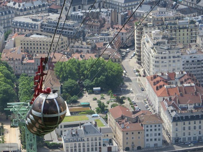 Cable Car City Cityscape Day Grenoble France High Angle View Outdoors Travel Destinations