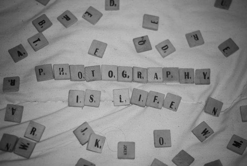 Photography Is Life Close-up Scrabble Tiles Scrabble Art Letters Art Nikon D3100 Eyeem Philippines