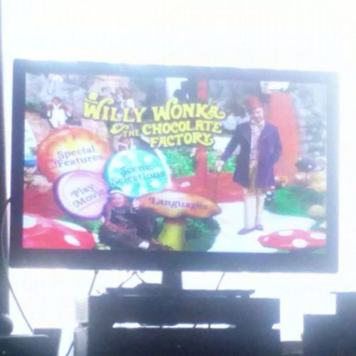 Watching one of my favorite movies with my niece Lacy. WillyWonkaandtheChocolateFactory Favoritemovie QualityTimeWithMyNiece