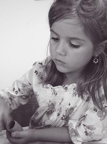 """ Lo maravilloso de la infancia es que cualquier cosa es en ella una maravilla."" Cherterton Uniqueness Kidsphotography One Person One Young Woman Only Leisure Activity Beautiful Woman From My Point Of View My Photography My Family ❤ Bnw_shot Bnw_collection Bnwportrait"