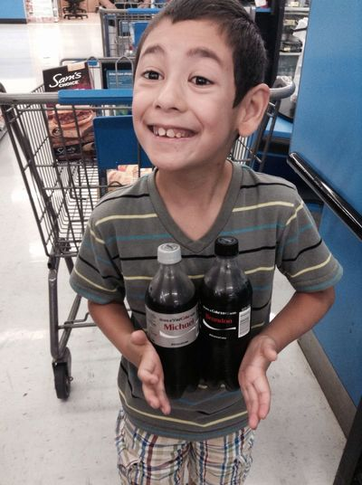 My son found two cokes with his first and middle name.