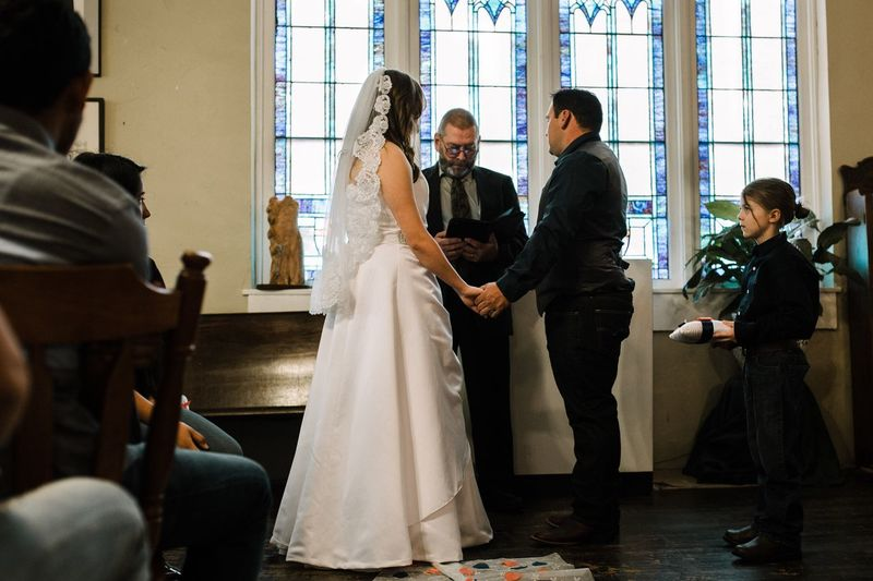 Just married. Bride Wedding Wedding Dress Full Length Indoors  Standing Life Events Young Adult Adults Only People Real People Adult Women Bonding Young Women Beginnings Wife Togetherness Day Bridegroom
