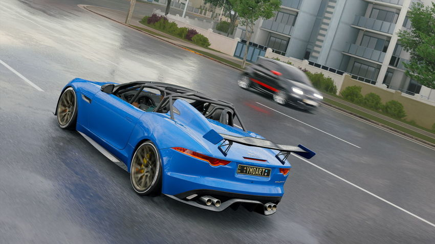 Jaguar F-Type Architecture Blurred Motion Bmw Built Structure Car City Day Driving Land Vehicle Luxury Mode Of Transportation Motion Motor Vehicle on the move Racecar Road Speed Sports Race Street Symbol Transportation
