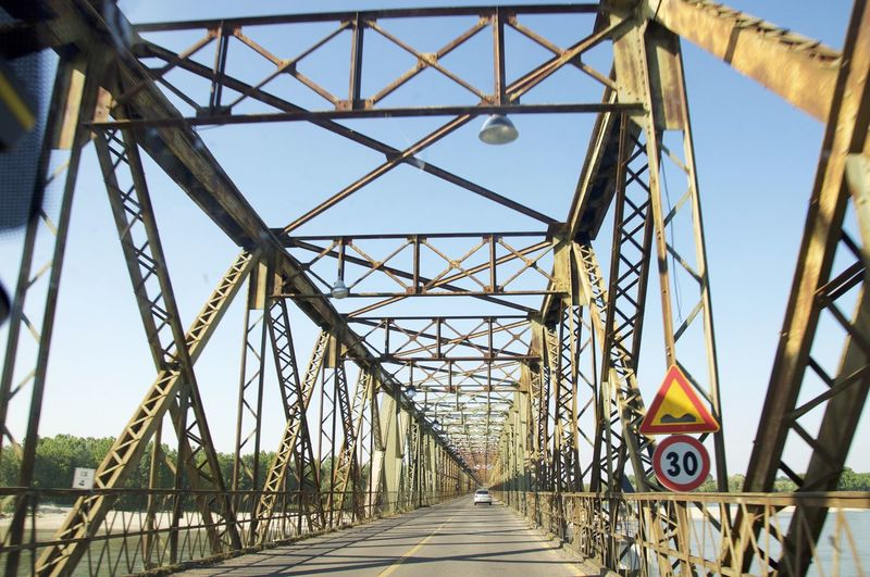 Architecture Architecture Bridge Bridge - Man Made Structure Built Structure Confluence Day Italy No People Old Bridh Outdoors Pavia River River View Rivers Sky The Way Forward Thirties Ticino Two Mobility In Mega Cities