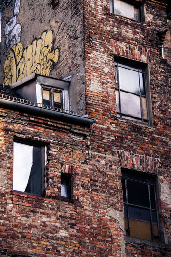 Abandoned Architecture Berlin Brick Wall Building Exterior Built Structure Day Low Angle View No People Outdoors Window