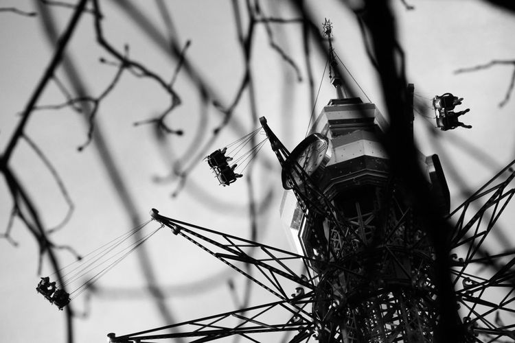Happy memories. Memories EyeEm Best Shots Playground Flying Spinning Around Spin Branch Old Oldtime Photography Park Lazy City Austria Vienna Blackandwhite Photographer Blackandwhite Photography EyeEm Selects Weekend Amusment Park Nature Sky No People Plant Day Outdoors Architecture Tree
