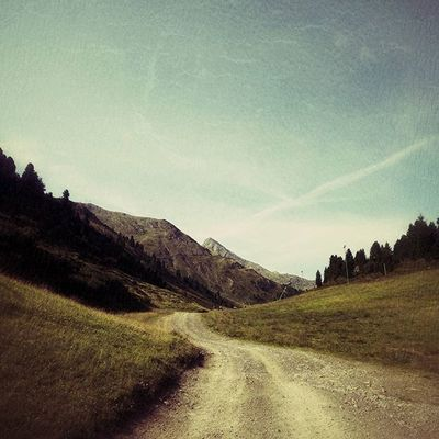 Road. Nature Hike Mountains Austria Road Path Beautiful Whitefigure