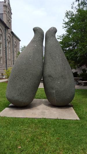 Sculpture Grass College Campus New Orleans Tulane Tulane University Stone Art Still Life Sunny