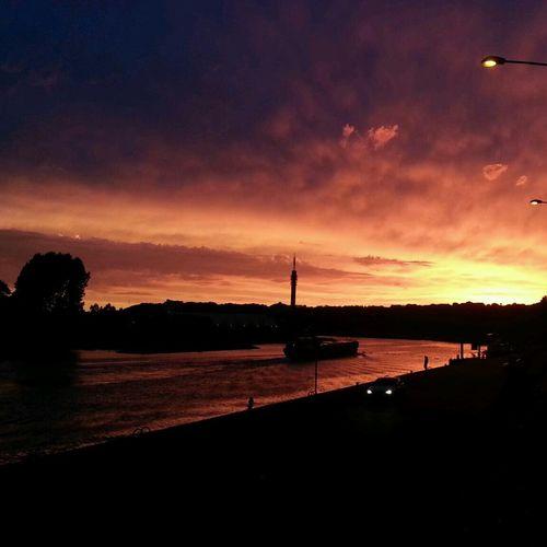 Sunset Beautiful Sunset Arnhem Rijn River View