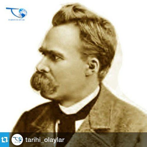 """Repost @tarihi_olaylar ・・・ """"İki temel sorunu var insanlığın: Adaletsizlik-anlamsızlık. Birine karşı hukuku bulduk, diğerine karşı da sanatı. Ancak insanlar hukuka ulaşamadı, sanat da insanlara."""" Friedrich Nietzsche (1844-1900) - Alman Filozof Nietzsche özlüsözler Tarihiolaylar tarih"""