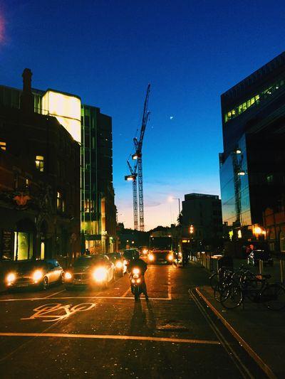 London vibes. Sunset London Hammersmith