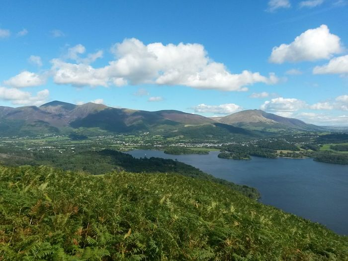 Cloud - Sky Blue Sky, White Clouds Clouds Mountain Scenics Lake Landscape Lush - Description Nature Beauty In Nature No People Outdoors Travel Destinations The Lake District