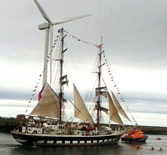 Sea Outdoors Water Day Sky Blyth Wind Turbine Canoos Tall Ship Sea And Sky Eyemphotography Coastline