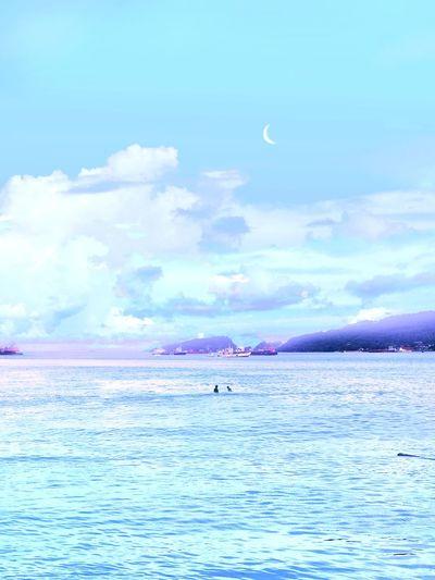 Lovely hues. Sky Skyporn Cloud EyeEm Best Shots Minimalism EyeEmNewHere EyeEm Gallery EyeEm Selects EyeEmBestPics Colorful Vibrant Color Vibrant Vivid Landscape Flamingo Bird Water Sea Beach Blue Pastel Colored Sky Animal Themes Horizon Over Water Wave Surf Tide Coast Seascape Shore
