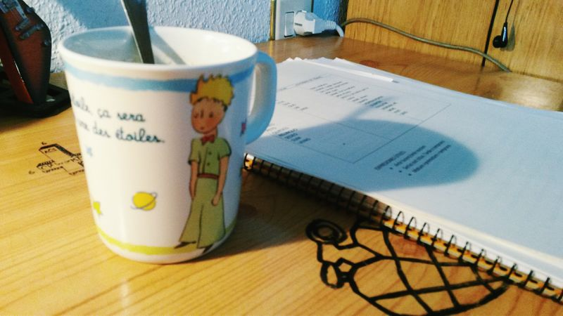 Coffee plus some study. Coffee Le Petit Prince Study Exams Finals No Days Off