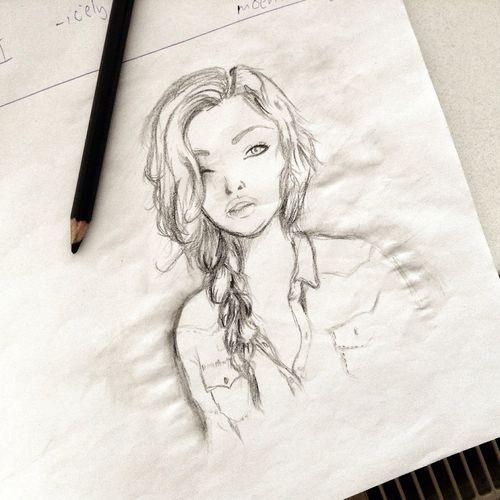 Today di draw day :D Art Draw Bla Bla Bla Bla :* Girl.