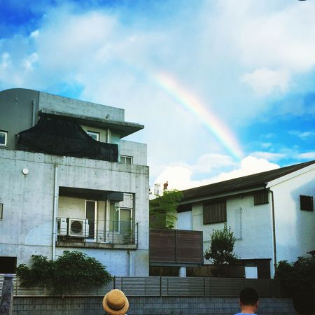 you realize that Someotherday You Would Have had a Rainbow in the Sky . Gotcha. Tokyo Japan Gakugeidaigaku Tokyu Toyoko Line Lookingup