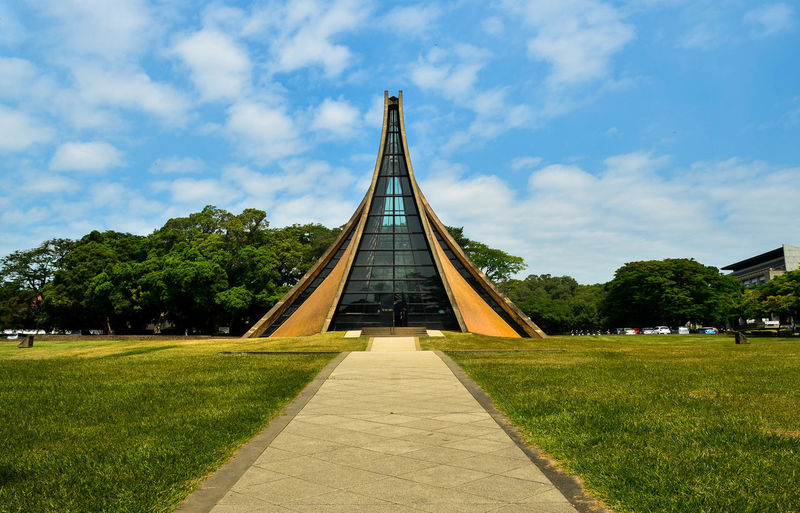 Architecture Plant Sky Built Structure Sunlight Travel Destinations Green Color Park Nature Grass Tree Church Taichung Tunghai University